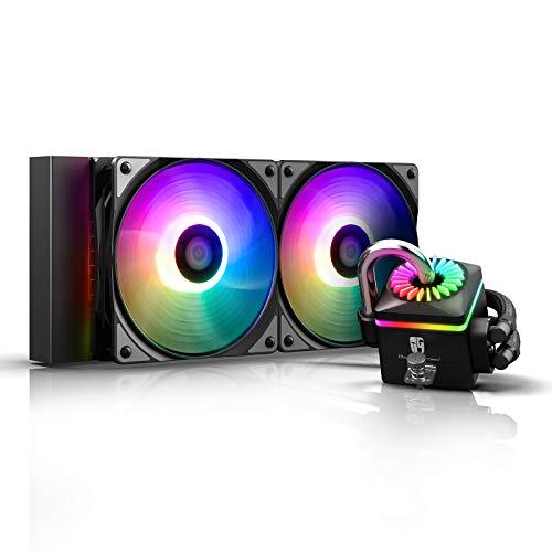 DEEP COOL Captain 240PRO V2, RGB Indirizzabile, Raffreddamento a Liquido per CPU, Sistema...