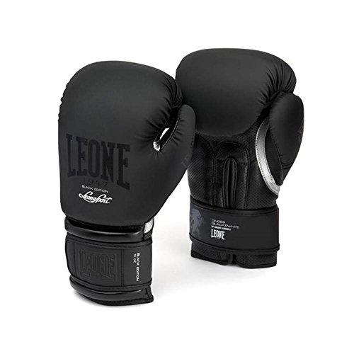 Leone 1947 GN059 Guantes de Boxeo, Unisex – Adulto, Negro, 16OZ