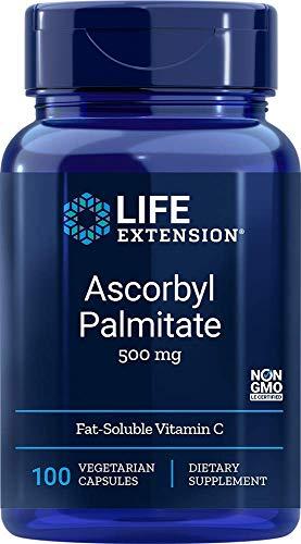 Life Extension, Ascorbyl Palmitate, 500 mg, 100 vegane Kapseln, sojafrei, glutenfrei