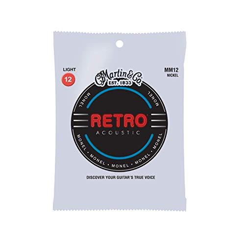 Martin Retro Acoustic MM12 Light-Gauge Guitar Strings, Monel Nickel