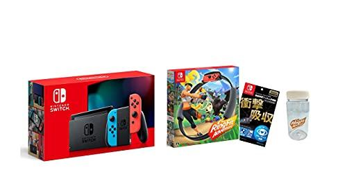 Nintendo Switch 本体 (ニンテンドースイッチ) Joy-Con(L) ネオンブルー/(R) ネオンレッド+リングフィット ...