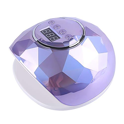 SKYMORE UV Nail Lamp, 86W UV LED Nail Dryer with 4 Timer Setting, Professional UV Light for Gel Nail Polish, Automatic Sensor (Purple)