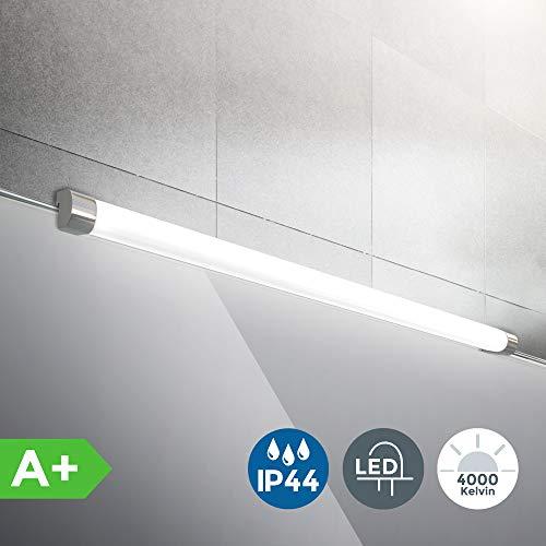 B.K.Licht I LED Spiegelleuchte | inkl. 10W LED Platine | Spiegelaufsatzleuchte 57,2 cm | IP44 Spritzwasserschutz | 4000K neutralweiss | Klemmbreite bis 5mm I Chromoptik