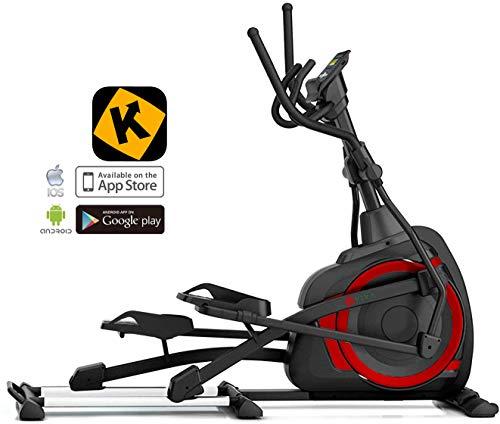 AsVIVA Ellipsentrainer, Ergomete, APP-Bluetooth Steuerung, integrierte Handpulssensoren, Heimtrainer, elliptischer Bewegungsablauf, XL Anti-Rutsch Pedale, 18kg Schwungmasse