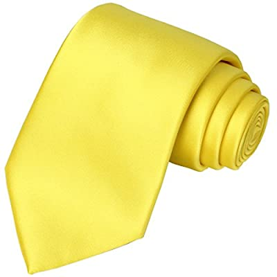 Including 1 Canary Necktie + 1 Gift Box. It can be a decent gift for men, or a graceful present for self use. Material: Finest jacquard woven microfiber which is animal friendly, texture is silky smooth, soft and thick. The buttercup yellow color is ...