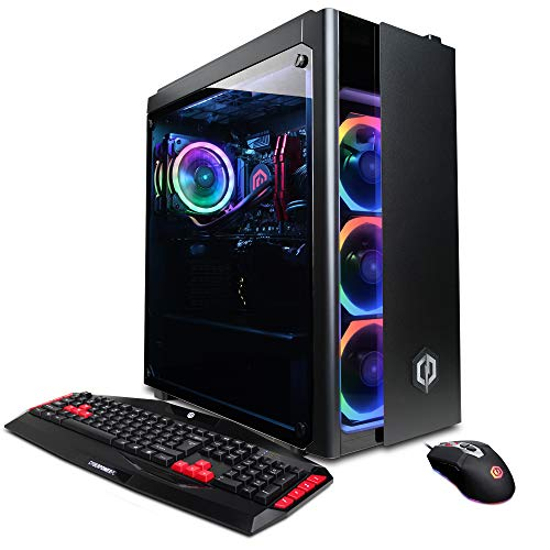 CyberpowerPC Gamer Xtreme VR Gaming PC, Liquid Cool Intel Core i7-9700K 3.6GHz, NVIDIA GeForce RTX 2080 Super 8GB, 16GB DDR4, 1TB PCI-E NVMe SSD, WiFi Ready & Win 10 Home (GXiVR8080A7, Black)