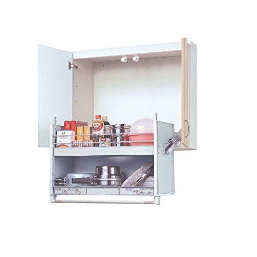スイングダウンウォール [JDS90602] 標準タイプ 900mmキャビネット用 昇降式キャビネット 吊戸棚用 オーク...