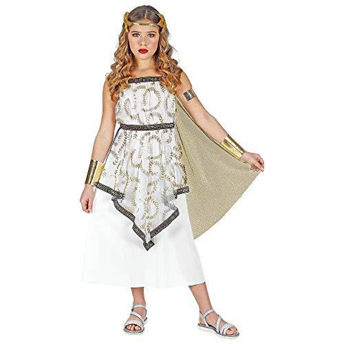 WIDMANN 01878 - Costume da dea greca per bambina, 158 cm, colore: Bianco/Oro