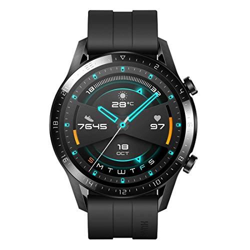 HUAWEI Watch GT 2(46mm) Montre Connectée, Autonomie de 2 Semaine, GPS Intégré, 15 Modes de Sport, Suivi du Rythme Cardiaque en Temps Réel, Appels Bluetooth, Sport Noir