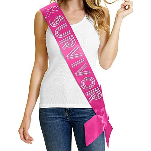 Survivor Pink Satin Sash - Premium GRADE SATIN & Real...