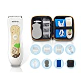 Birmirth Electric Baby Hair Clipper Kits Waterproof Electric Hair Trimmer Shaver Cordless USB Charged Baby Hair Cutter for Kids Infants with Storage Bag Guide Comb