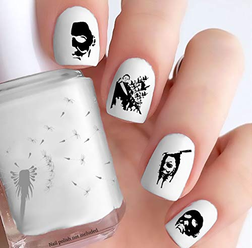 Michael Myers Halloween (Clear Water-Slide Nail Decals)