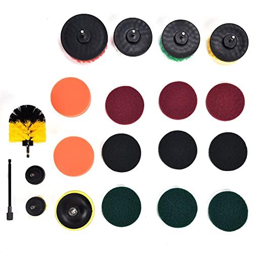 Drill Brush Attachment, Durable Drill Brush Kit 20Pcs for...