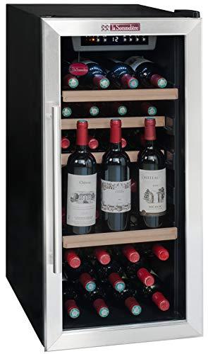 La Sommelire LS38A cantina vino Libera installazione Nero, Acciaio inossidabile 38 bottiglia/bottiglie Cantinetta termoelettrica A