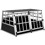 Cadoca Trasportino per Cani XL 89x70x51cm Auto Cofano Gabbia trasportare Cuccioli Alluminio Box Trasporto Cane