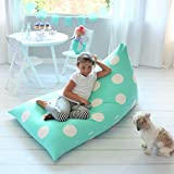 Butterfly Craze Stuffed Animal Storage Bean Bag Chair – Stuff 'n Sit Toy Bag Floor Lounger for Kids, Teens and Adult |Extra Large 200L/52 Gal Capacity |Premium Cotton Canvas (Teal)