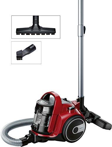 Bosch BGC05AAA2 Aspirapolvere a Carrello Senza Sacco, 700 W, 1.5 Litri, 78 Decibel, Plastica, Rosso...