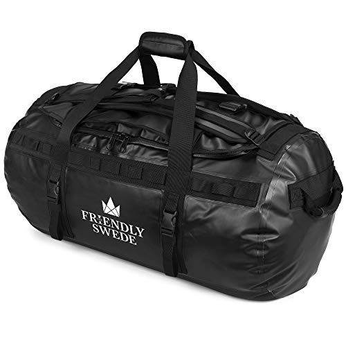 Borsone da Viaggio e Sport Convertibile in Zaino - Duffel Bag - The Friendly Swede (Nero 90L)