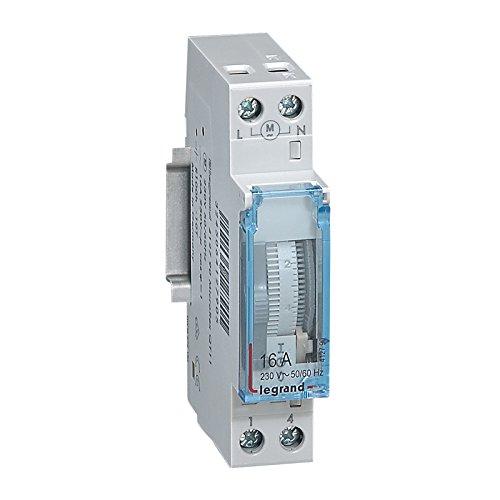 Legrand LEG412790 Inter-horaire programme analogique Cadran vertical journalier avec Réserve marche