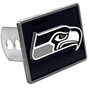Officially licensed NFL merchandise Durable zinc Fits class II and class III hitch receivers Hardware included