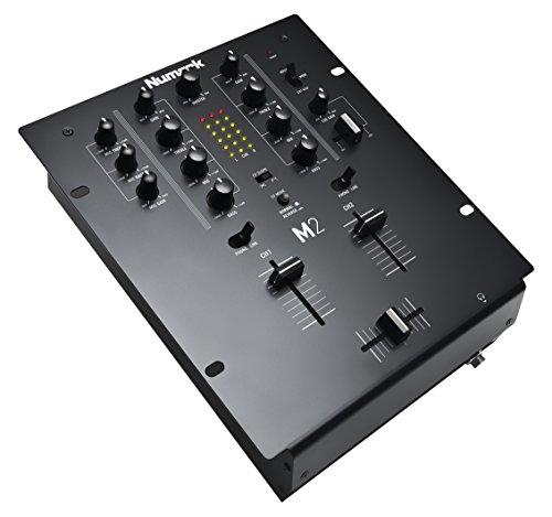 Numark M2 - Mixer Scratch 2 Canali a Rack per DJ con EQ a 3 Bande, Ingressi Audio, Ingresso Microfono, Crossfader Sostituibile e Controlli Slope e Reverse
