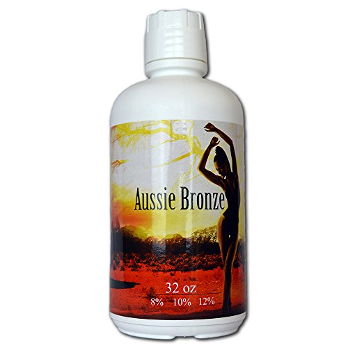 Aussie Bronze 8% Light/Med DHA Sunless Airbrush Spray Tanning Solution 32oz