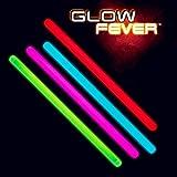 Glow Fever Bulk Glow in The Dark 100ct 10'' Jumbo Glow Sticks, for Party Supplies Festivals Raves Birthday Wedding, Multi