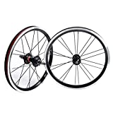TYXTYX BMX 406 Rim 20 Inch Bike Wheelset Rim Brake Foldable Bicycle Front and Rear Wheel with 9T Sprocket Sealed Bearing Hub 1210g