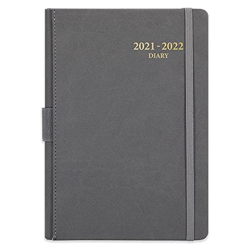 Agenda 2021-2022 A5 Página al día - Julio 2021-junio 2022, Agenda Anual 2021-2022, Planificador diario 2021-2022, 14,8 cm × 21,4 cm, gris
