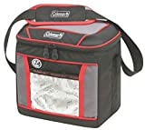 Coleman Soft Cooler Bag   Keeps Ice Up to 24 Hours   9 Can Insulated Lunch Cooler, Red