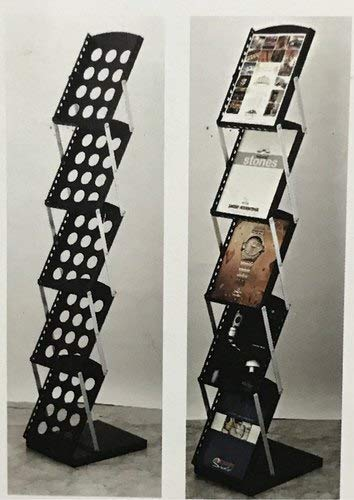 Lepose A4 Metal Floor Standing Catalouge Magazine Holder Rack Display Stand …