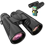 12x42 Binoculars for Adults with Phone Adapter - 20mm Large View Eyepiece & Super Bright Waterproof Binoculars for Bird Watching, Hunting, Sports