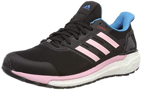 adidas Damen Supernova GTX W Laufschuhe, Schwarz (Core Black/Shock Cyan/True Pink Core Black/Shock Cyan/True Pink), 40 2/3 EU