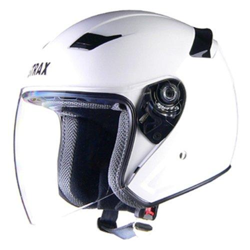 リード工業(LEAD) バイクヘルメット ジェット STRAX ホワイト M SJ-8 -