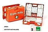 LEINA-WERKE 21011 Quick - Maletín de primeros auxilios con impresión (2 colores, sin contenido, 10 unidades), color verde