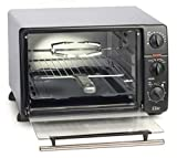 Maxi-Matic ERO-2008N Countertop Toaster Oven, 60-Min Timer with Stay-On Function Rotisserie, Bake, Grill, Broil, Roast, Toast, Keep Warm, 23L Capacity, 23 L