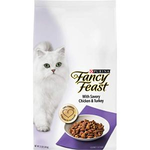 Purina Fancy Feast Dry Cat Food, With Savory Chicken & Turkey – 12 lb. Bag