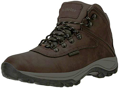 Kitleler Men's Waterproof Hiking Boots Lightweight Outdoor Winter Boots (8808-Brown-10 M u)