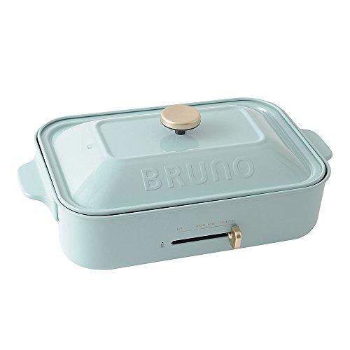 BRUNO ホットプレート コンパクトサイズ ブルーグレー 平面 たこ焼きプレート セット
