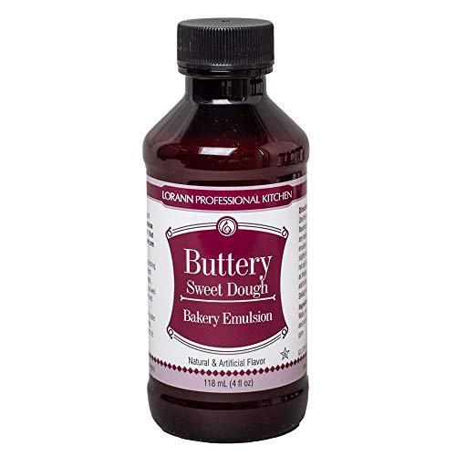 LorAnn Buttery Sweet Dough Bakery Emulsion, 4 ounce bottle