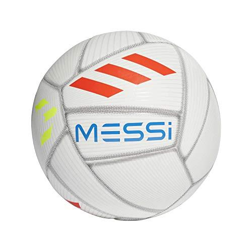 Adidas Football Size 5 (Messi Capitano - White/Crystal White/Football Blue/Solar Red)
