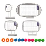 SewTech Embroidery Hoops for Brother Innovis NQ1600E NQ1400E NQ3600D Dream Machine 2 VE2200 4000D 1500D V7 V5 VM5200 Babylock Embroidery Machine Hoop (4in1-B Set)