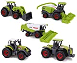 Toyland Ensemble de 5 Jouets pour Machines agricoles en métal moulé Vert -...
