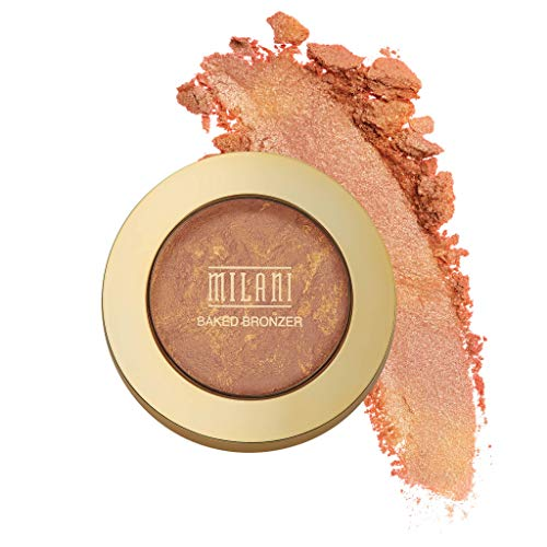 Milani Baked Bronzer - Glow, Cruelty-Free Shimmer Bronzing Powder to Use For Contour Makeup, Highlighters Makeup, Bronzer Makeup, 0.25 Ounce