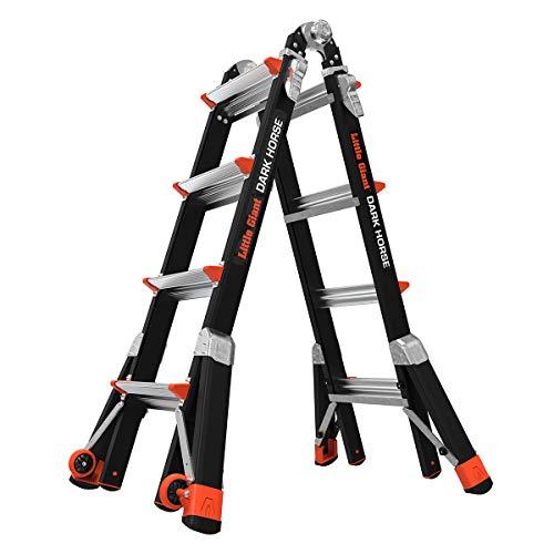 9. Dark Horse Fiberglass Multi-Use Ladder