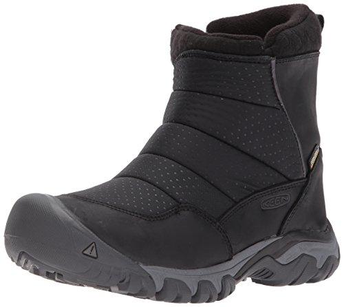 KEEN Utility Women's Hoodoo iii Low Zip-w Snow Boot, Black/Magnet, 8 M US