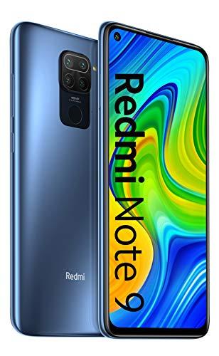 Xiaomi Redmi Note 9 Smartphone - 4 GB + 128 GB, 48 MP Quad Camera Hotshot, 6.53FHD + DotDisplay, 5020 mAh, 3.5mm Cuffie Jack, NFC, Grigio (Midnight Grey)