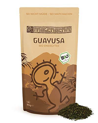 Guayusa Energytee BIO von Matchachin - Das Original (80 g) [Ilex guayusa] Leistung, Ausdauer, Konzentration + mögliche Nebenwirkung: luzides träumen - der Nachtwächter Tee der Quichua Indianer