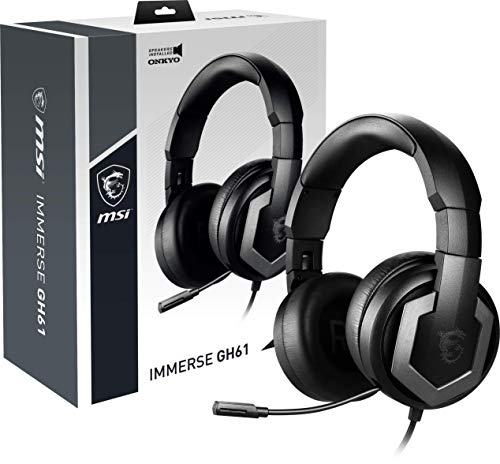 MSI Immerse GH61 Auriculares Gaming Over Ear 7.1, Driver 40 mm by...