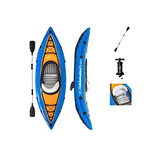 Bestway 65115 Hydro-Force aufblasbares Kajak Cove Champion mit Paddel 275 x 81 x 45 cm, Color